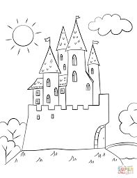 cartoon castle coloring free printable coloring pages