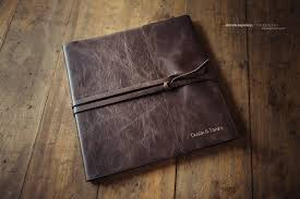 leather wedding photo album the legend album clovis photographer derek lapsley