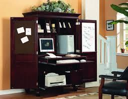 Armoire Desks Home Office Armoire Office Desk Viverati