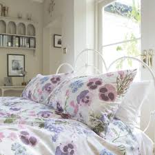 patricia rose pansy 100 cotton floral duvet cover set dove mill