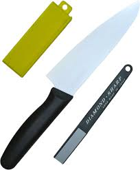 sharpening kitchen knives with a stone forever cera ceramic kitchen knife 16cm 6 3 whet stone sharpener