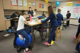 standing desks for students students use standing desks exercise equipment to boost learning
