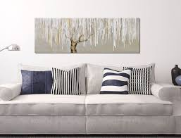 monochrome willow tree wall art canvas painting eluxury home