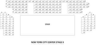 new york city center new york tickets schedule seating charts