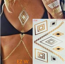online get cheap metallic flash tattoos aliexpress com alibaba