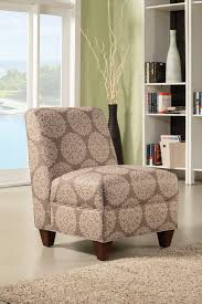 Printed Accent Chair Coaster 902533 Armless Accent Chair Light Brown Printed Upholstery
