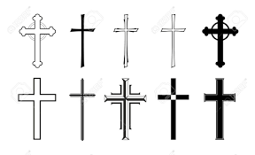 different designs of grave crosses for obituaries royalty free