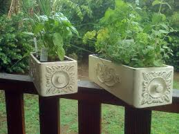 vintage sewing machine drawers turned into window herb boxes