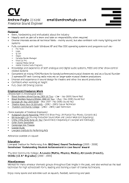 Casual Job Resume by Recording Engineer Sample Resume Haadyaooverbayresort Com