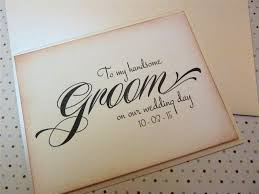 card to groom from on wedding day groom wedding card vintage inspired newlywed to my handsome