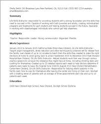 resumes for high students skills life skills instructor resume template best design tips
