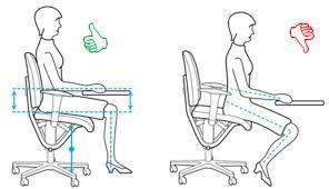position assise bureau ergonomie du poste de travail par arbet aménagement