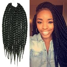 noir pre twisted senegalese twist box braids hair crochet 14inch crochet hair extensions synthetic