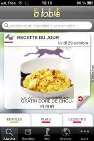 appli cuisine android food iphone android gratuit recherche recette avec