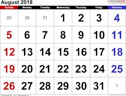 printable calendar 2018 august august 2018 calendar template calendar month printable