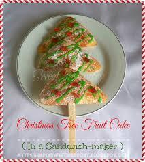 simply sweet u0027n savory christmas tree fruit cake in a sandwich