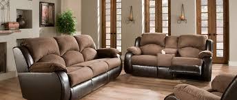 Two Tone Reclining Sofa 4 Jpg