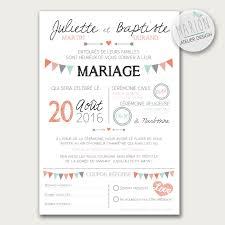 carte mariage ã imprimer faire part de mariage thème fanions à imprimer vous même