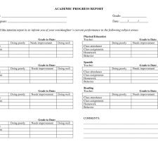 academic progress report template construction progress report template and weekly progress report