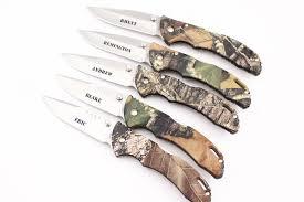 Buck Kitchen Knives Engraved Buck 110 Folding Hunting Knife 6 Knife Set