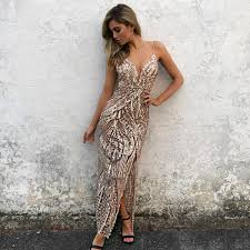 gold maxi dress gold sequin maxi dress with slit shophearts