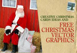 creative christmas cards ideas and free christmas vector graphics