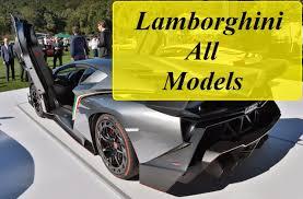 all cars of lamborghini lamborghini all models from beginning 1964 2016