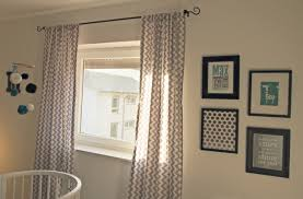 Modern Nursery Curtains White Gray And Black Curtains Captainwalt Com