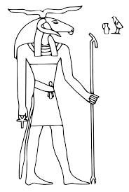 coloring pages of egypt flag egyptian gods coloring pages 483594