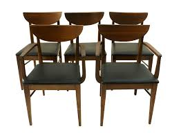 Dinette Chairs by Mid Century Modern Bassett Dining Chairs S 5 Chairish