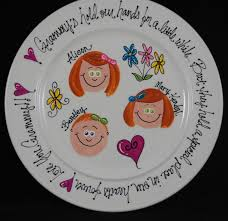 anniversary plates personalized personalized grandparents anniversary family by hermanscreations