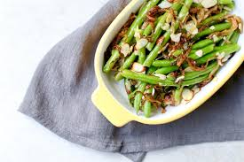 green beans with caramelized onions and almonds marisa