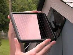 solar powered motion security lighting