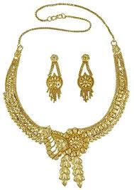 gold necklace earring sets images Banithani indian traditional 18k gold plated designer jpg