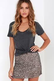 sequin skirt billabong showin skirt bronze skirt sequin skirt 99 95