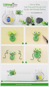 tutorial on how to make cute frog and fish made from acrylic and