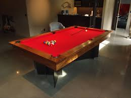 hand made modern pool table by dan joseph woodworks custommade com