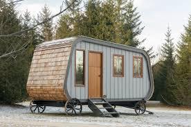 modern prefab cabin this modern prefab hut on wheels has all the cabin aesthetics