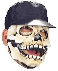 halloween skeleton mask little raskull skull mask with hat