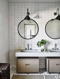 Mirrored Bathroom Wall Tiles - best 25 round bathroom mirror ideas on pinterest minimal