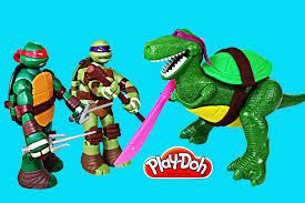 teenage mutant ninja turtles toy story rex play doh