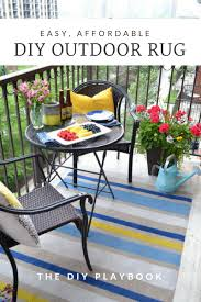 How To Redo Metal Patio Furniture - how to paint an outdoor rug in three easy steps