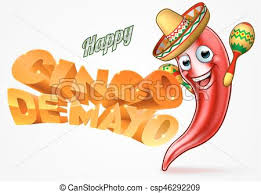 cartoon cinco de mayo cinco de mayo mexican chilli pepper design mexican happy vector