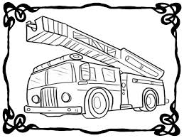 fire truck coloring book pages realistic coloring pages