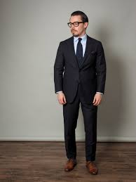 light gray suit brown shoes navy chalk stripe suit dla guide to different combinations