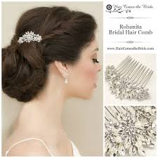 wedding hair combs rohanita rhinestone comb vintage bridal hair vintage