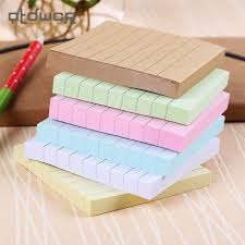 post it sur bureau bureau papeterie collant notes carré soild couleur bloc notes 80