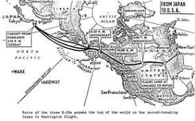 map us japan 1945 japan washington flight