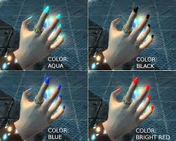 kaw claws colored long nails at skyrim nexus mods and community