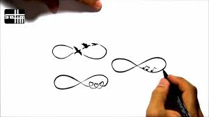 how to draw 4 infinity tattoo design style amazing youtube